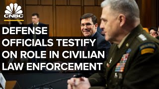 WATCH LIVE: Top defense officials testify on role in civilian law enforcement ⁠— 7/9/2020