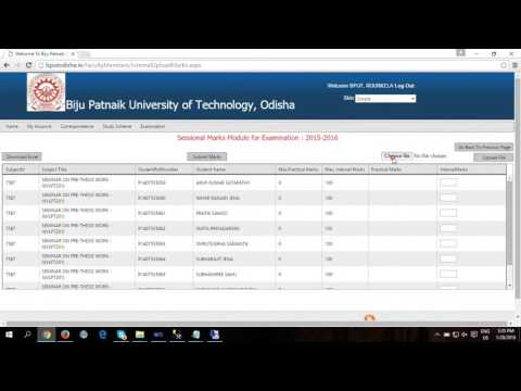 How to Upload Internal & Practical Marks