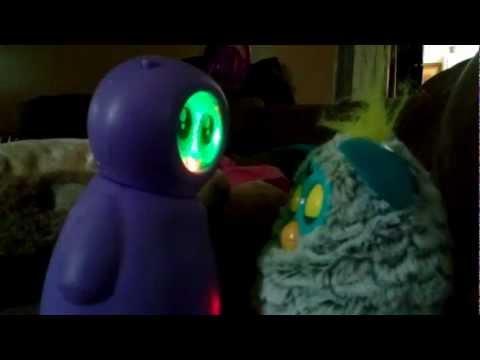 Figit Willa putting Furby to sleep