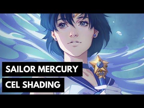 Sailor Mercury: Cel Shading in Photoshop