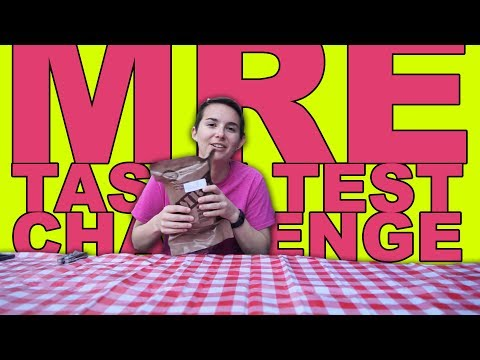 Air Force Wife Eats MRE    MRE (Military Food) Taste Test Challenge [Military Spouse Guides]