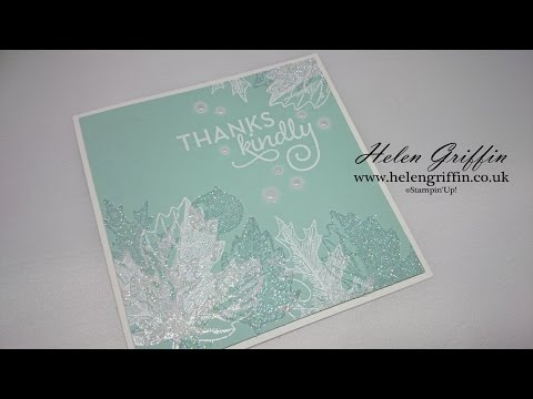 Sparkly Winter Leaves Thank You Card Tutorial