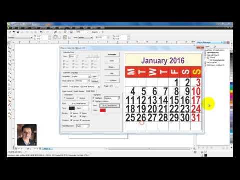 Learn CorelDraw in HINDI -18- Calendar Date and Month tutorial