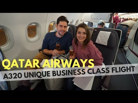 QATAR AIRWAYS A320 BUSINESS CLASS - FULL FLAT BUSINESS CLASS ON A TINY PLANE??