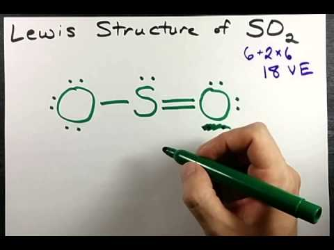 Lewis Structure of SO2 (sulfur dioxide)