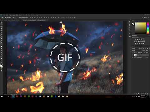 How to Design GIF logo in Photoshop CC 2018