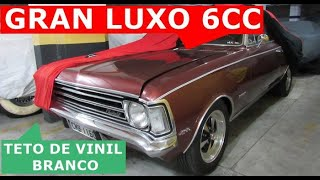 Opala Gran Luxo 73 6 cilindros de plaqueta Coupe com teto de vinil. Lindo!