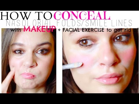 How to Cover up Nasolabial folds with Makeup