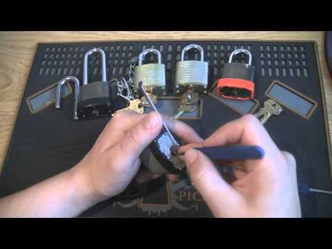 Commando lock picked - 5 padlocks picked SPP