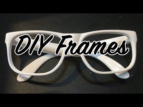 DIY White Glasses Frames