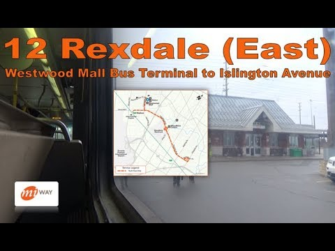 12 Rexdale (East) - MiWay 2005 New Flyer D40LF 0559 (Westwood Mall Bus Terminal to Islington Avenue)