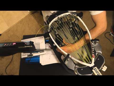 Stringing an Ektelon O3 White Racquetball Racquet