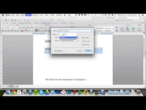 Linking text to tables in Microsoft Word