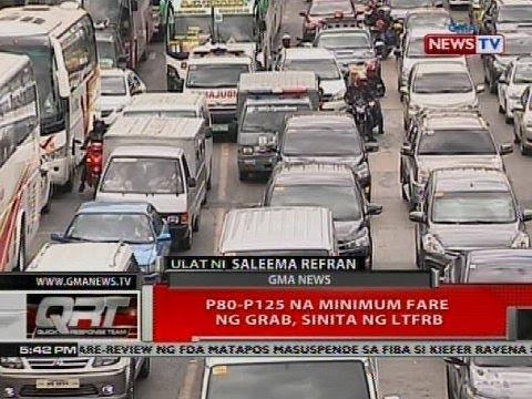 P80-P125 na minimum fare ng Grab, sinita ng LTFRB