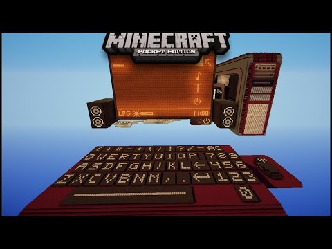 Working Computer Command block Creation in Minecraft pe 1.0.5 | mcpe ( pocket edition ) minecraft pe