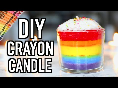 How To Make A Candle With Just Crayons / How To Repair