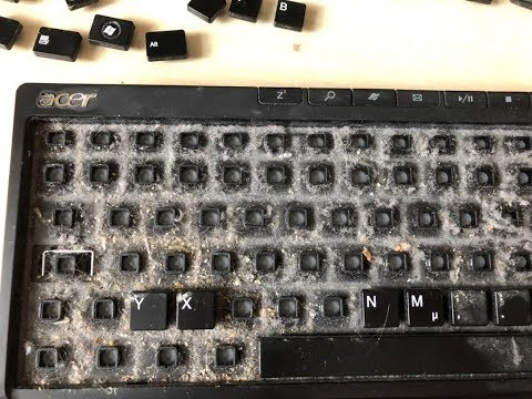 Cleaning 5 year old keyboard | Timelapse | extrem dirty | HD 1080p
