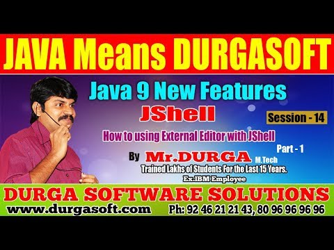 Java 9 New || Session - 14 ||  How to using External Editor with JShell Part  - 1 by Durga sir.
