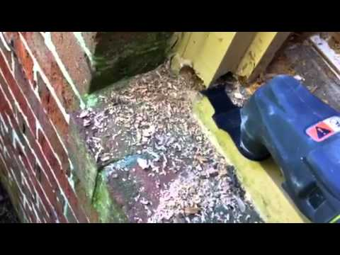 How to replace rotted window sill
