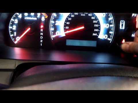 Oil life reset procedure Honda Odyssey 2005 - 2010 3.5L turn off light Pilot Fit Element Accord