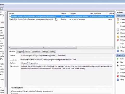 Configuring the Active Directory RMS Client
