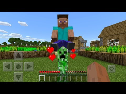 How To Tame and Ride Creepers in Minecraft Pocket Edition