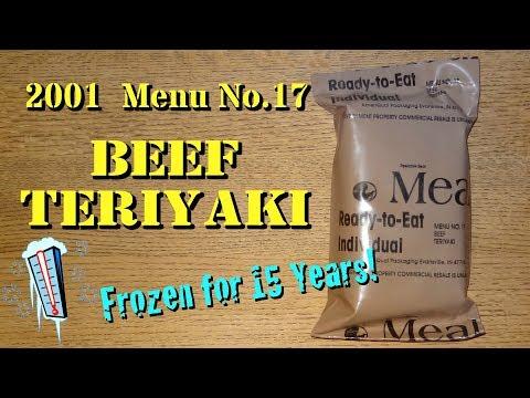 MRE Review: 2001 Menu17 Beef Teriyaki ~ Frozen for 15 Years!