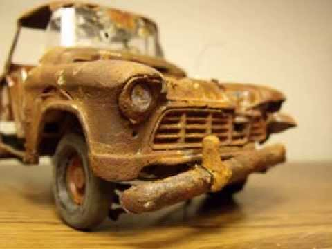 Rusted 1955 Chevy pickup
