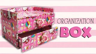 DIY Hello Kitty Makeup Storage Organizer Box