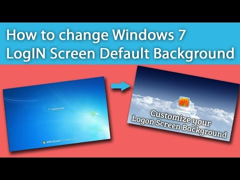 How To Change Windows 7 Log IN Screen Default Background.