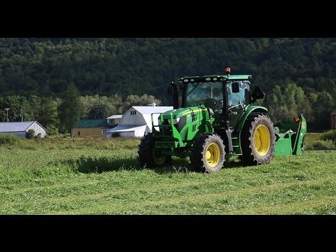 Mowing Hay With The New Tractor
