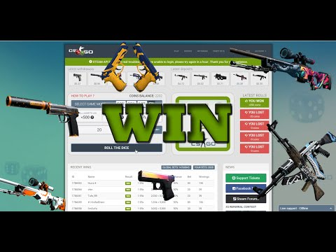 CS:GO How to get FREE Skins 100% WORKING CS:GO Dices 5% GAMEMODE