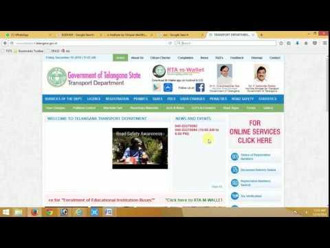New Vehicle Registration | Telangana Transport | HowtoFill.com