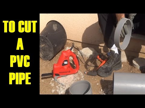 how to cut pvc pipe cleanly