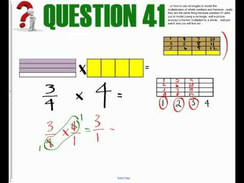 Multiplying Fractions and Whole numbers   RECTANGLES