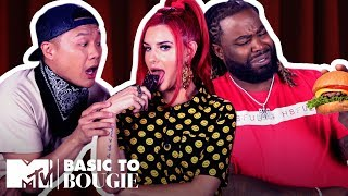 Open Wide! It's Burgers & Chocolate ft. Justina Valentine | Basic to Bougie Season 2 | MTV
