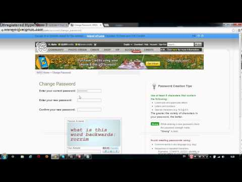 Rogor  Shevcvalot Imvus Paroli ) / How To Change Imvu's Password )
