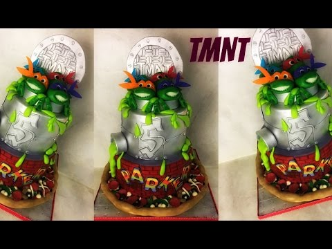 Making A Teenage Mutant Ninja Turtle Cake!