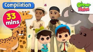 Compilation | Everything Belongs to Allah 33 Mins | Omar & Hana | Nasheed for Kids