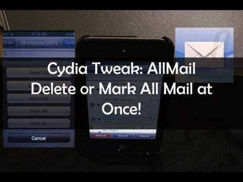 Select/Delete all emails on iPhone with AllMail