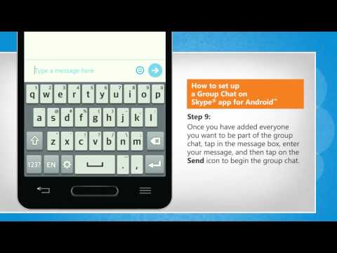 How to set up a Group Chat on Skype® app for Android™ on LG L9