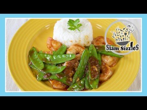 Shrimp And Mangetout Stir Fried With Crab Paste