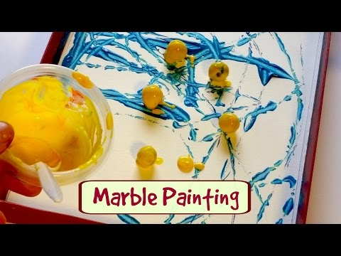 Fun Marble Painting for Kids - Easy Craft for Young Children