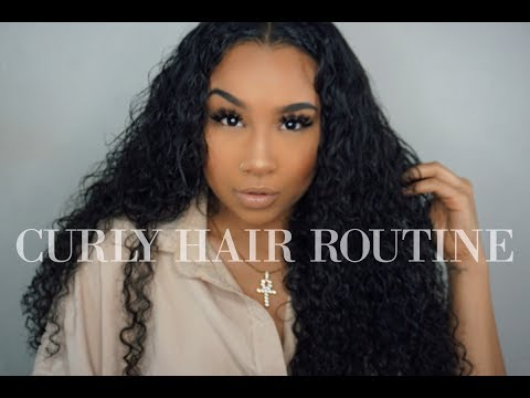 CURLY HAIR ROUTINE/TUTORIAL USING CLIP-INS | TheAnayal8ter