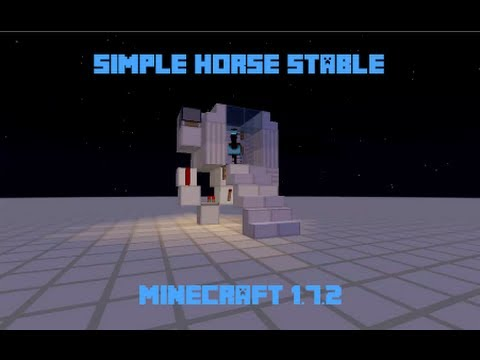 Simple Horse Stable - Minecraft 1.7.2