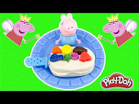 Play Doh Stop Motion Peppa Pig Make Ice Cream Creative Fun for Kids