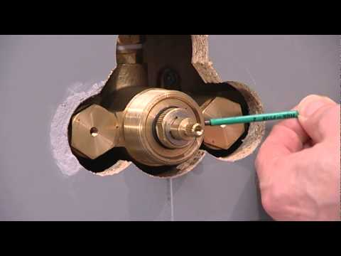 Concealed shower valve - Thermostatic cartridge (brass): maintenance, replacement and calibration
