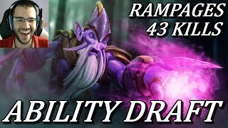 FUNNIEST ABILITY DRAFT GAME I'VE HAD ft. Rampages, 43 Kills Dota 2