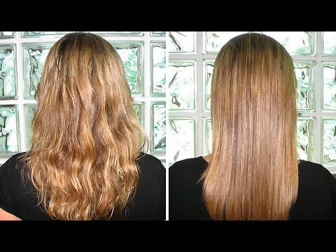 Permanent Hair Straightening at Home With Natural Ingredients