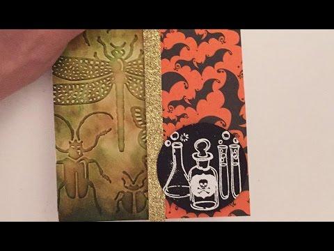 Split Halloween Card & Distressed Ink Technique